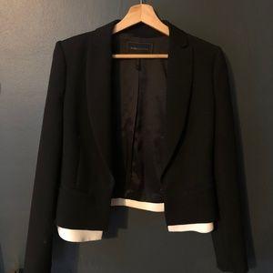 BCBGMaxAzria Cropped Tuxedo Blazer